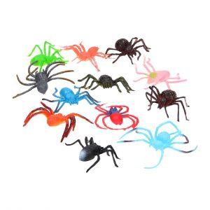 12 Gekleurde Spinnen