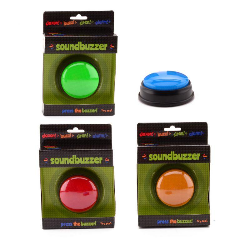 Spelbuzzer met licht en geluid