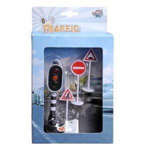 Verkeerslicht met Verkeersborden