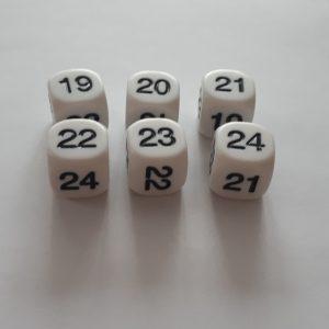 Dobbelsteen 19, 20, 21, 22, 23 en 24