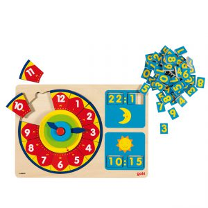 Goki Leer de tijd Puzzel
