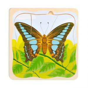 Houten Lagenpuzzel Vlinder