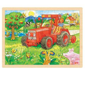 Legpuzzel traktor