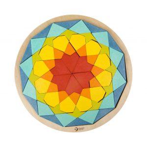 Houten Mandala Puzzel