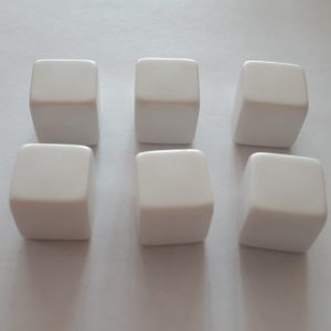 Blanco dobbelsteen