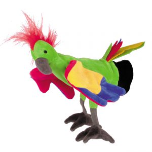Handpop papegaai