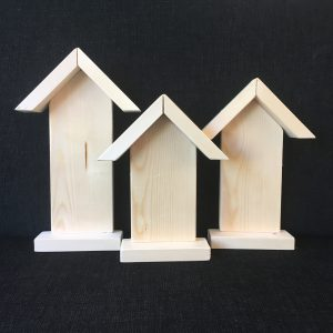 Houten cijferstraat huisje
