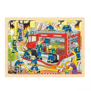 Houten puzzel brandweer