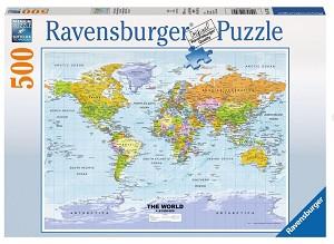 Puzzel wereldkaart 500 stukjes