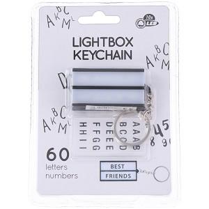 Sleutelhanger lichtbox met 60 letters