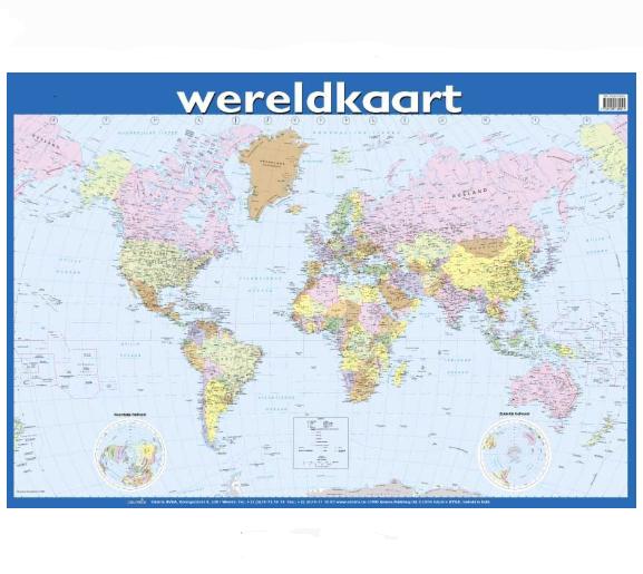 Poster Wereldkaart