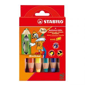 STABILO Woody 3in1 6 kleuren