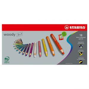 STABILO Woody 3in1 18 kleuren