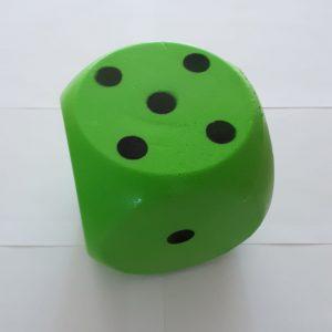 Dobbelsteen foam groen