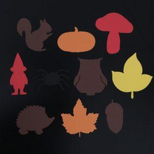Herfst vormen 10 stuks