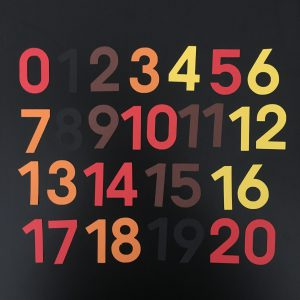 Herfst cijfers 0-20 klein