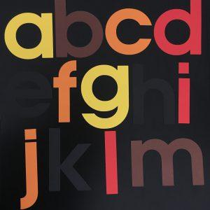 Herfst alfabet groot