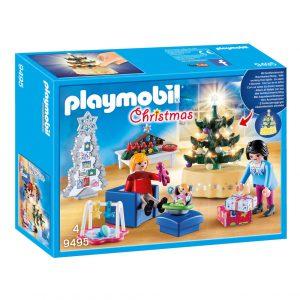 Playmobil woonkamer met kerst