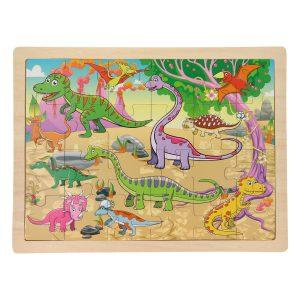 Legpuzzel Dino's 24 stukjes