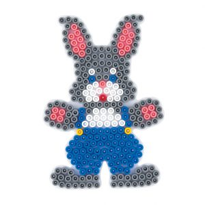 Strijkkralenbord konijn
