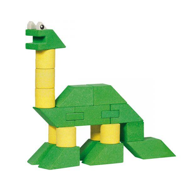 Houten stapel dinosaurus