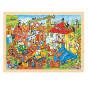 Legpuzzel op de bouwplaats