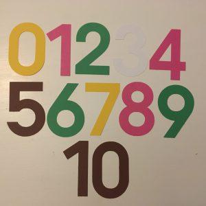 Lente cijfers 0-20 groot
