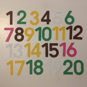 Lente cijfers 0-20 klein