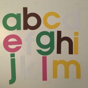 Lente alfabet groot