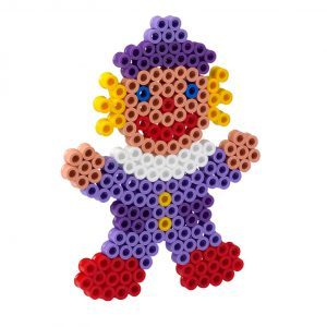 Strijkkralenbord MAXI clown