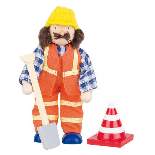 Poppenhuispop bouwvakker