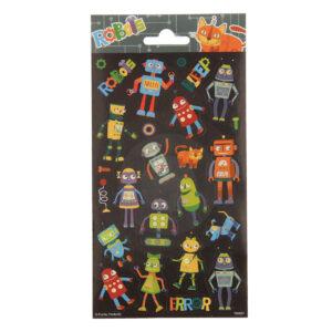Stickervel robotfiguren