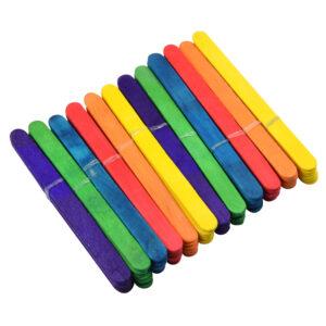 Gekleurde knutselstokjes 72x