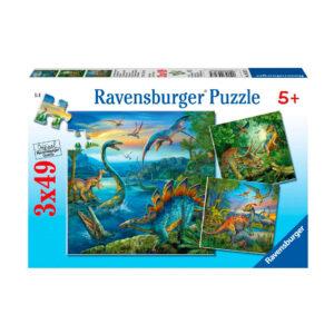 Dino puzzels 3x 49 stuks