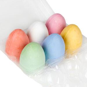 Stoepkrijt eieren 6 stuks