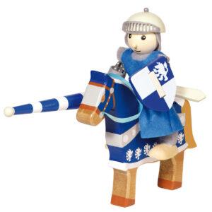 Ridder met paard blauw