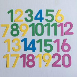 Zomer cijfers 0-20 klein
