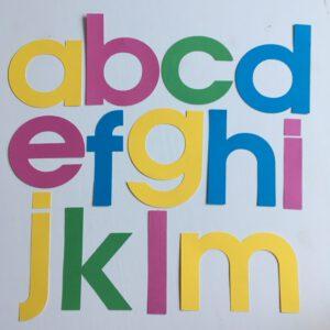 Zomer alfabet groot