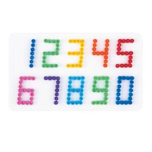 Strijkkralenbord cijfers