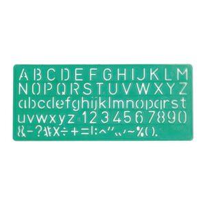 Sjabloon letters en cijfers
