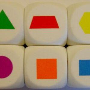 Dobbelsteen foam vormen/kleuren