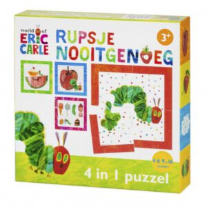 Rupsje Nooitgenoeg puzzel 4 in 1