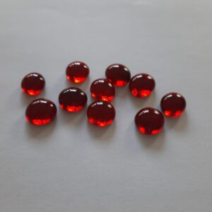 Rode glazen counters