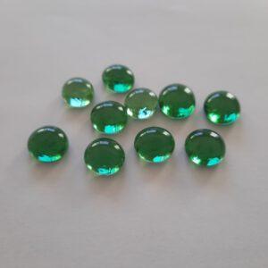 Groene glazen counters