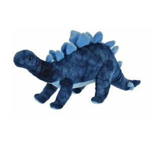 Pluche dinosaurus blauw