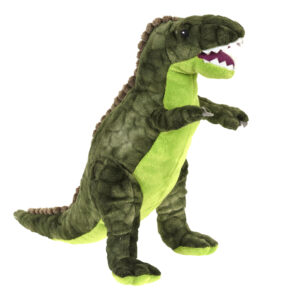 Pluche dinosaurus groen