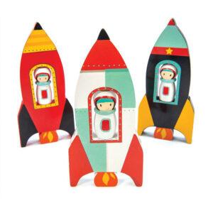 Houten raket spinner