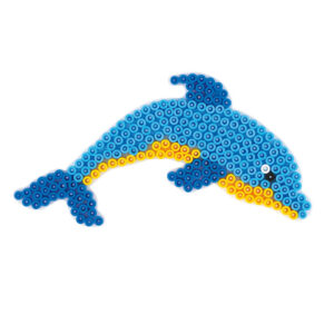 Strijkkralenbord dolfijn
