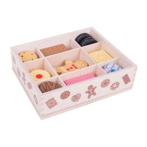 Houten kistje met koekjes