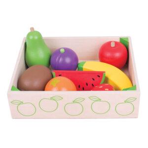 Houten kistje met fruit